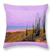 Beach Trees Throw Pillow