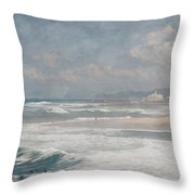 Beach Triptych 1 Throw Pillow