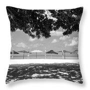 Beach Umbrellas Throw Pillow