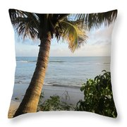 Beach Under The Palm 4 Throw Pillow