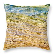 Beach Water Abstract Throw Pillow
