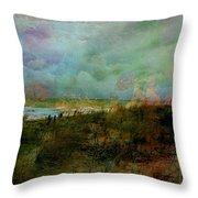 Beach Watercolor 3 Throw Pillow