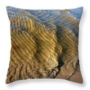 Beach Wave Pattern. Throw Pillow