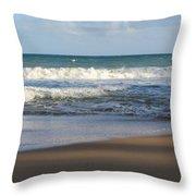 Beach Waves 3 Throw Pillow
