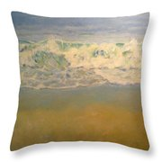 Beach Waves Throw Pillow