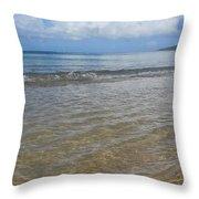 Beach Waves Tall Throw Pillow