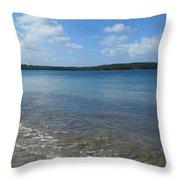 Beach Waves Wide Throw Pillow