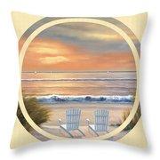 Beach World Throw Pillow