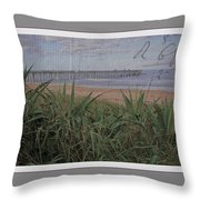 Beach Writing Throw Pillow