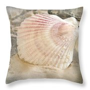 Beached Throw Pillow by Betty LaRue