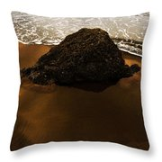 Beaches Of Gold Throw Pillow