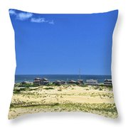 Beachouses As Seen From Jockey's Ridge State Park Throw Pillow