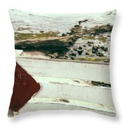 Beachside Warning Horizontal Color Throw Pillow