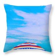 Beachtime Usa Throw Pillow