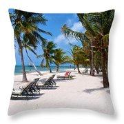 Beachy Belize Throw Pillow
