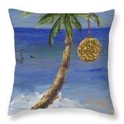 Beachy Christmas Throw Pillow