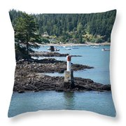 Beacon At Snug Cove Throw Pillow