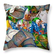Bead Tossing Throw Pillow