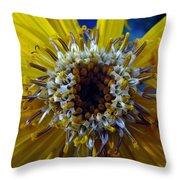 Beaded Flower Throw Pillow