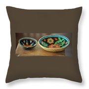 Beaded Indian Baskets Throw Pillow