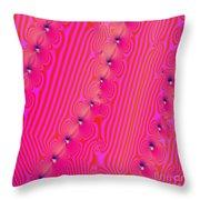 Beaded Pink Throw Pillow