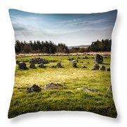 Beaghmore Stone Circles Throw Pillow