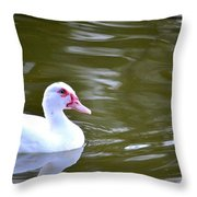 Beak And Feather Reflections Of The Muscovy  Throw Pillow