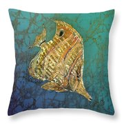 Beaked Butterflyfish Throw Pillow