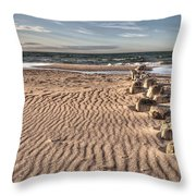 Bealtic Beach Throw Pillow