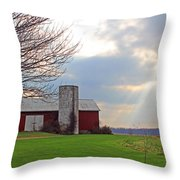 Beam From Above Throw Pillow