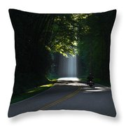 Beam Me Up The Great Smoky Mountains Throw Pillow