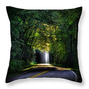 Beam Me Up Great Smoky Mountains Tennessee Mountains Art Throw Pillow