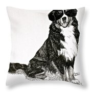 Beaming Berner Throw Pillow