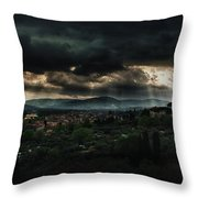 Beams Of Light Over Florence Throw Pillow