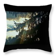 Beams Through The Storm Throw Pillow
