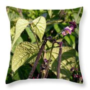 Bean And Beauty Throw Pillow
