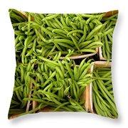 Beans Of Green Throw Pillow