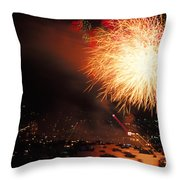 Beantown 4th Of July Throw Pillow