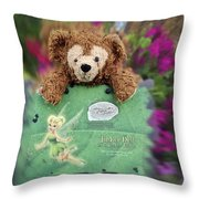 Bear And His Girl Throw Pillow