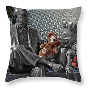 Bear And His Mentors Walt Disney World 04 Throw Pillow