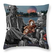 Bear And His Mentors Walt Disney World 05 Throw Pillow