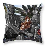 Bear And His Mentors Walt Disney World 06 Throw Pillow