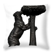 Bear And The Madrono Tree Throw Pillow by Fabrizio Troiani