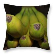 Bear Face Bananas  Throw Pillow