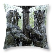 Bear Fountain Throw Pillow