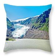 Bear Glacier Near Stewart-british Columbia  Throw Pillow