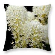 Bear Grass Flowers Glacier National Park Throw Pillow