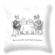 Bear In Mind That We Just Bought String Bikinis Throw Pillow