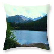 Bear Lake - Colorado Throw Pillow