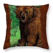 Bear Naked Throw Pillow